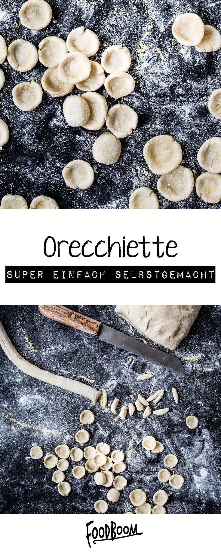 Selbst gemachte Orecchiette #frischkäseselbermachen