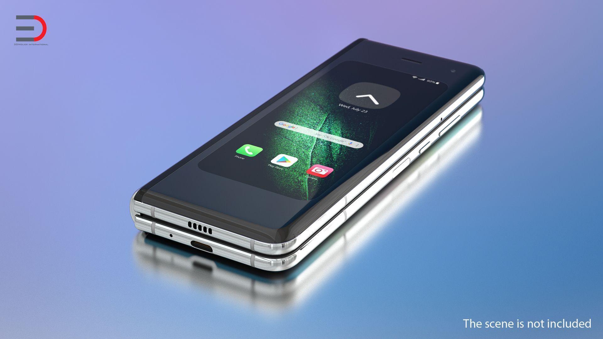 Samsung Galaxy Wrinkles Silver Folding 3d Samsung Galaxy Samsung Galaxy