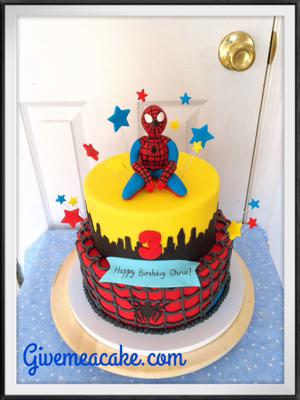 Spider Man Party Cake By Givemeacake Customized At Edison Nj Contact Email Sshennycgmail
