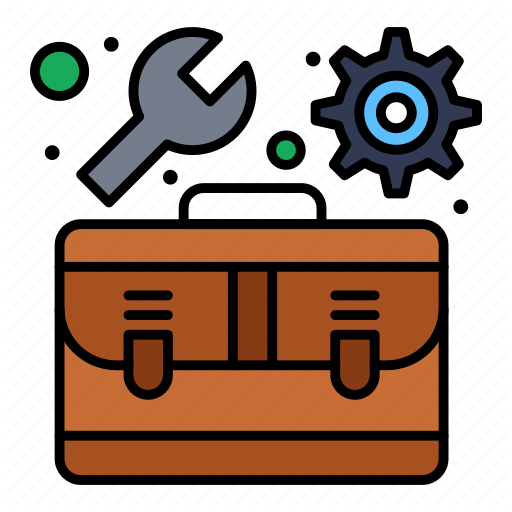 Toolbox With Tools Icon Box Symbol Image Vector