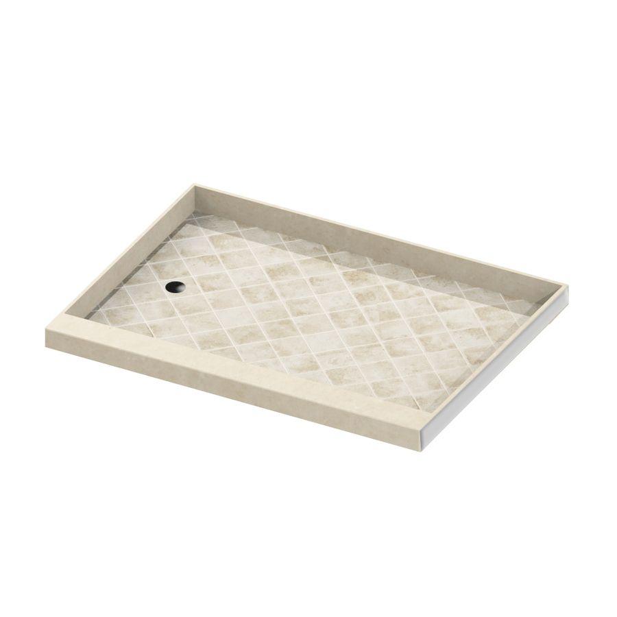 American Bath Factory Sonoma Molded Stone Shower Base Common 30 In W X 60 L Actual S603004so