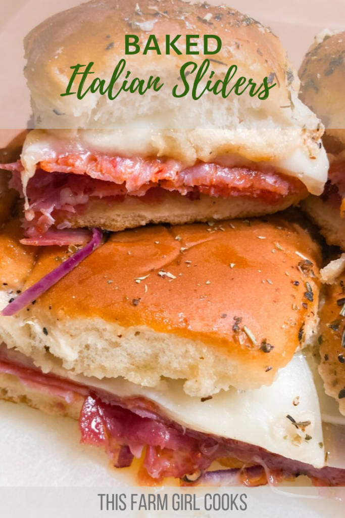 Baked Italian Sliders #sandwichrecipes