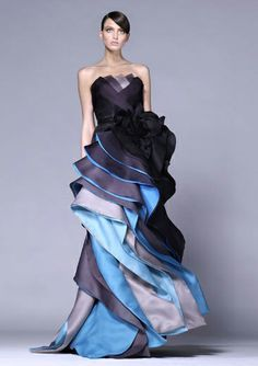 This Is A Structural Design Example Because If You Take One Of The Pieces Off The Whole Dress Will Unravel Designer Dresses Dresses Evening Gowns