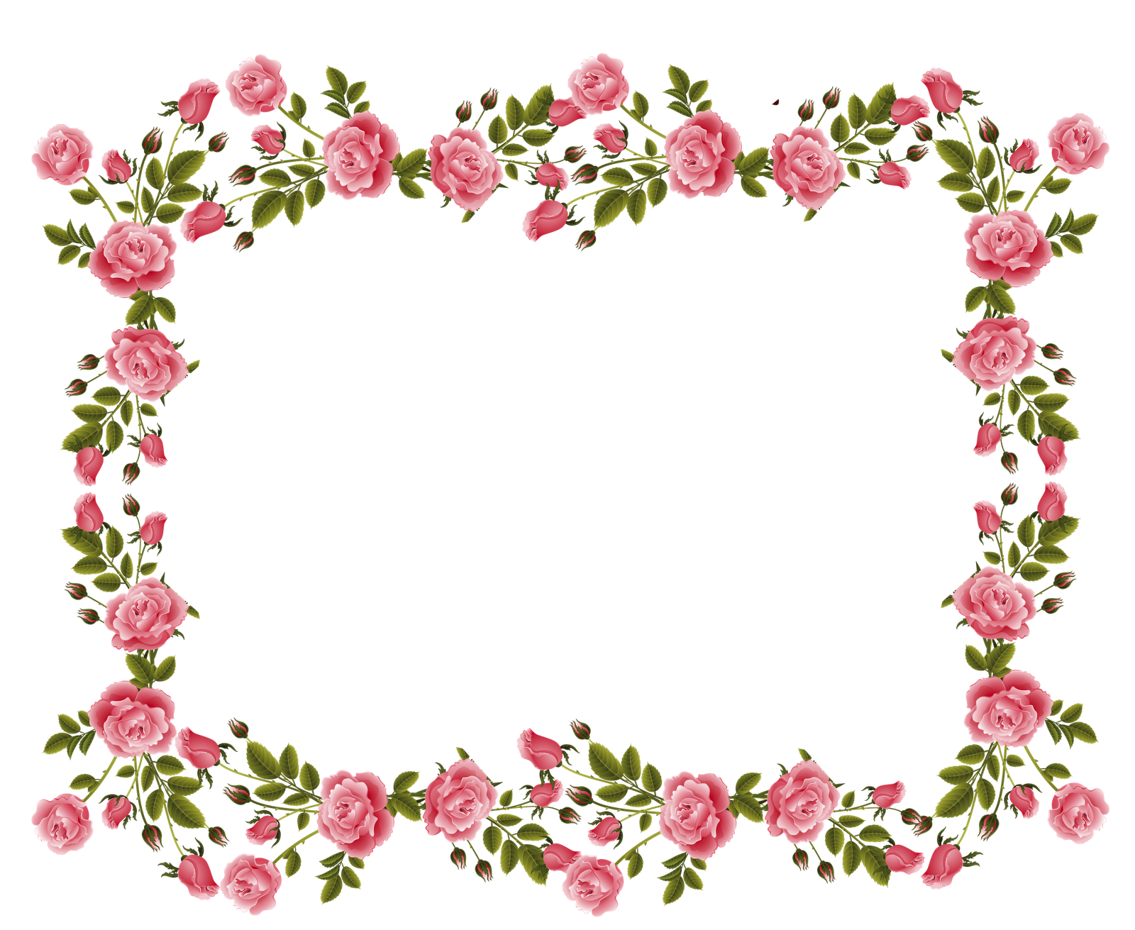 Rose Border Clipart (Dengan gambar)