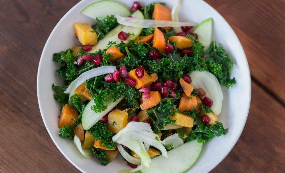 Kombucha isn't just for drinking anymore. We found a chef who turned this probiotic wonder into a zesty dressing for a healthy, winter salad.