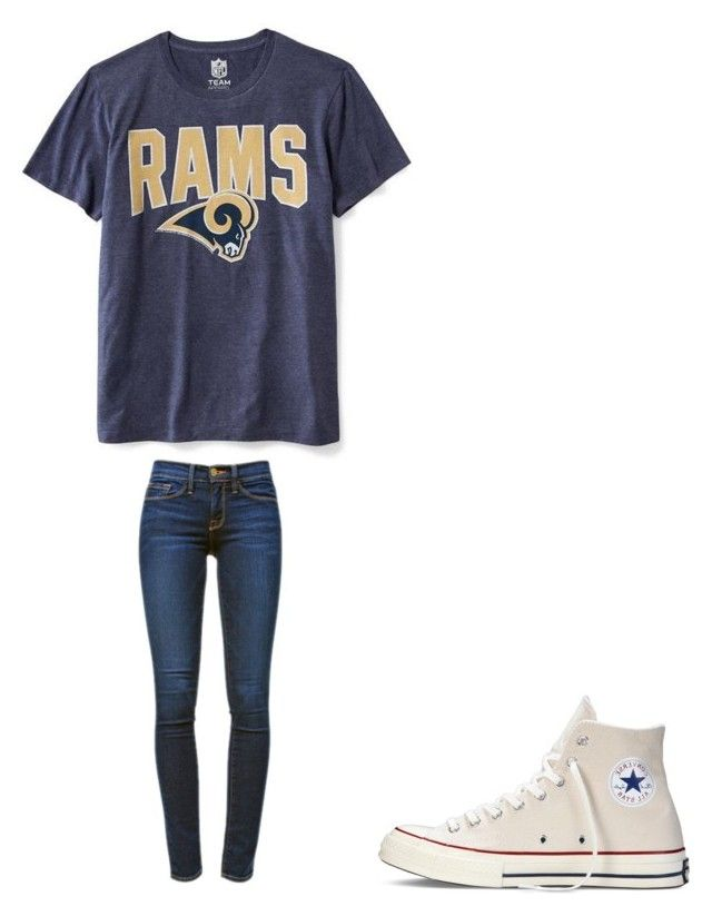 """""""🏈"""" by melodyleighmitchell on Polyvore featuring Old Navy, Frame Denim and Converse"""