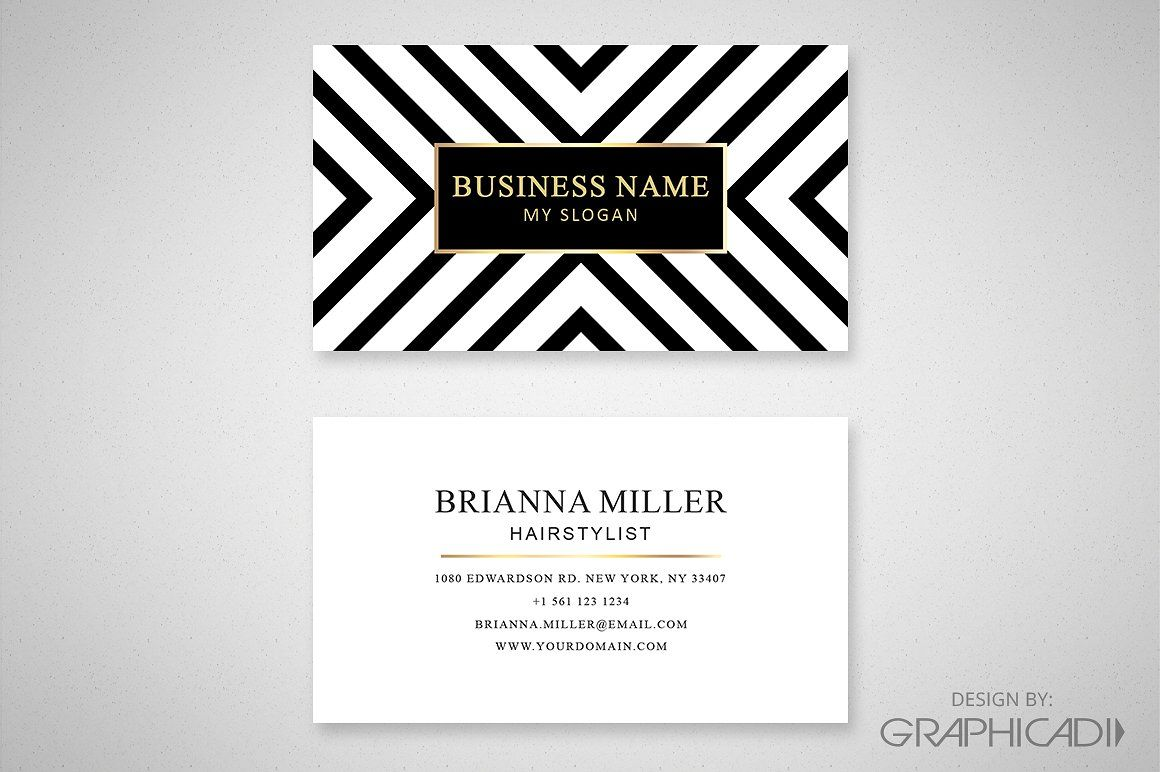 Modern Business Card Quot Instructions Front Details Business Cards Creative Templates Business Cards Creative Business Card Template