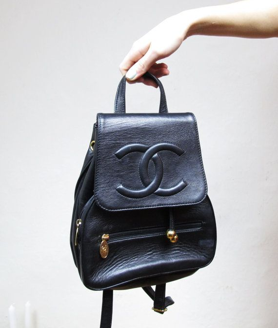 chanel leather backpack  dd9be33c873e1