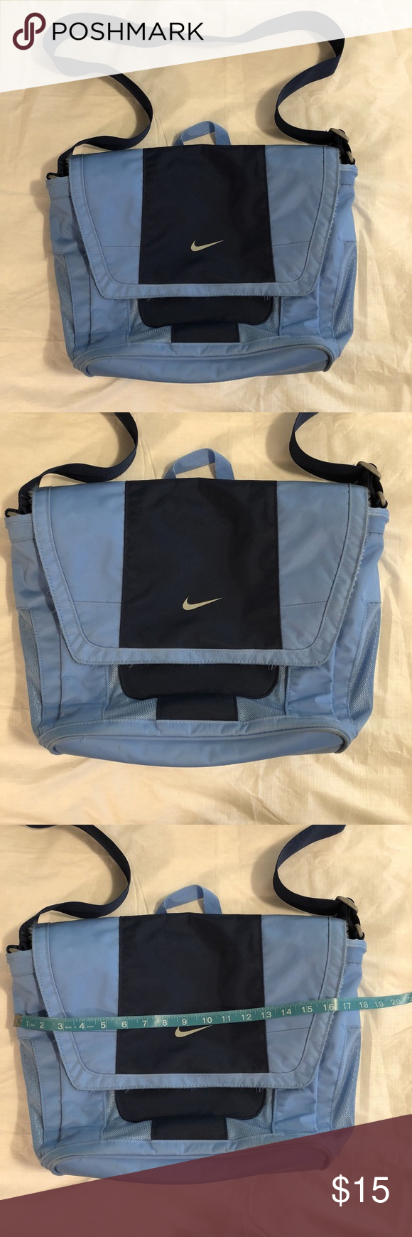 5c9af742466 Nike Laptop Messenger Bag Blue Shoulder Strap ~Nike messenger laptop bag  ~Measures about