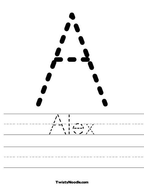 Alex Worksheet - Twisty Noodle Name Tracing Worksheets, Tracing Worksheets  Preschool, Worksheets