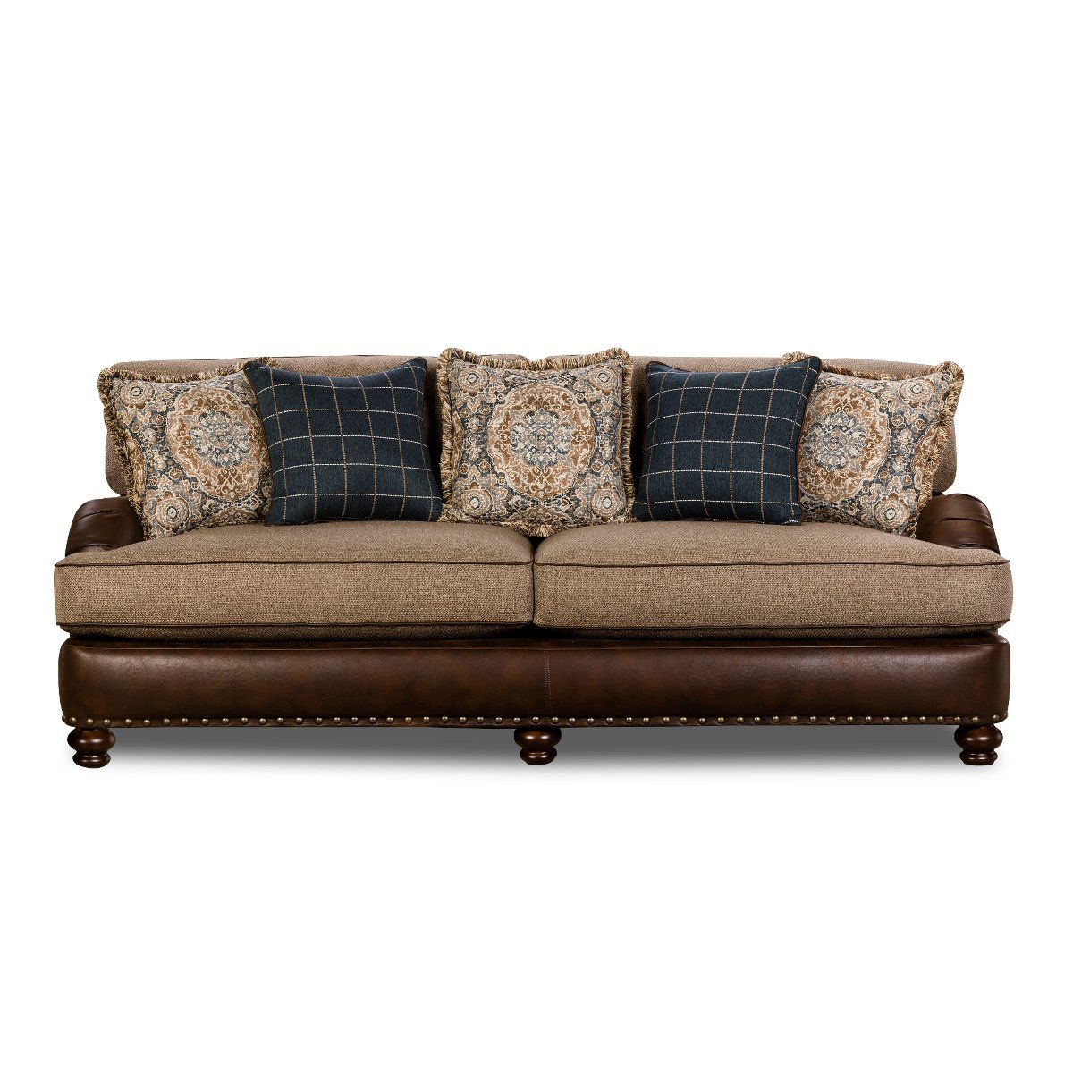 Fabulous Traditional Two Tone Brown Sofa Cognac In 2019 Sofa Gmtry Best Dining Table And Chair Ideas Images Gmtryco