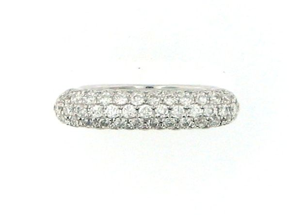 Pave Diamond 1.21 Carat 18 karat white gold band. Stack this with your engagement ring or wear alone for a pop of diamonds.
