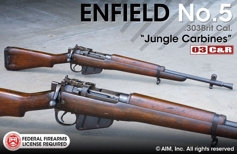 Enfield No 5  303 British Jungle Carbine | Peacemakers | Guns