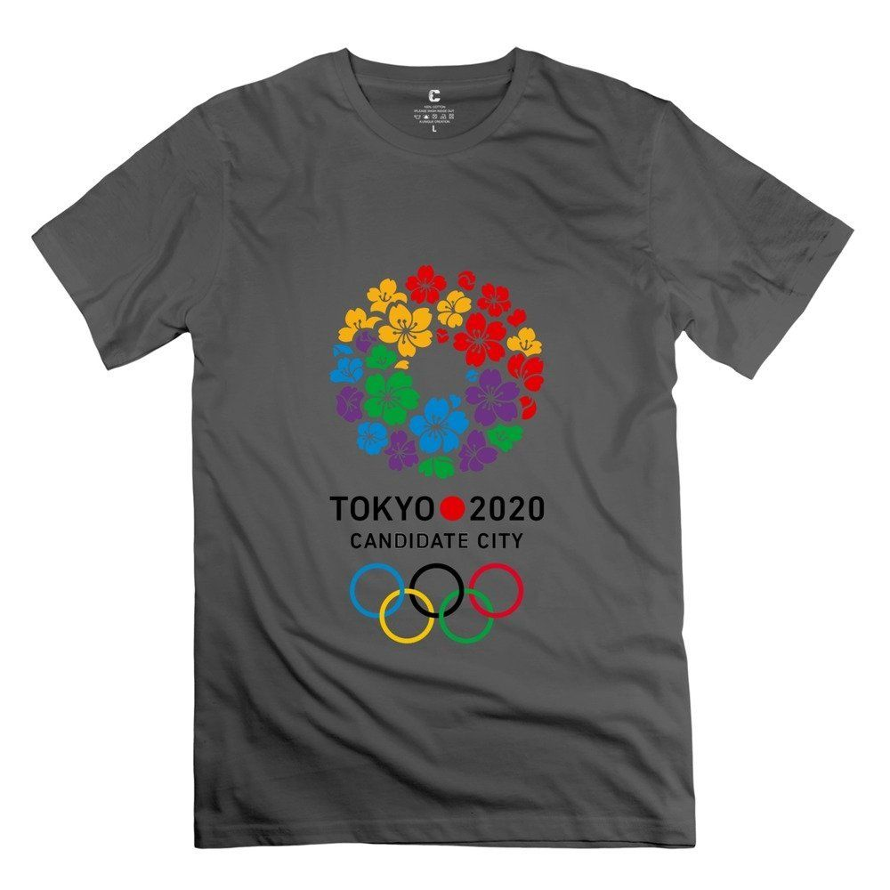 Hoxsin Men's Tokyo 2020 Olympic Logo Symbol ShortSleeve