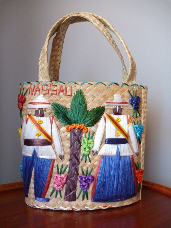 I Love These Vintage Souvenir Straw Bags Such A Unique Momento This Is Particularly Detailed And Creative Example Nau Bahamas