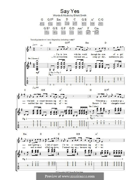 Say Yes Will Smith Sayings Sheet Music