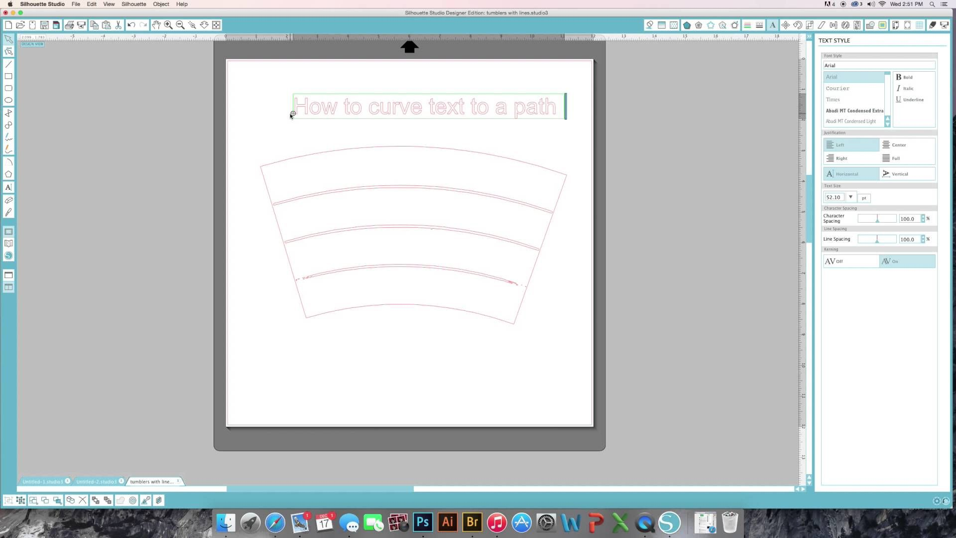 How to add a curve to decals for tumblers Cricut