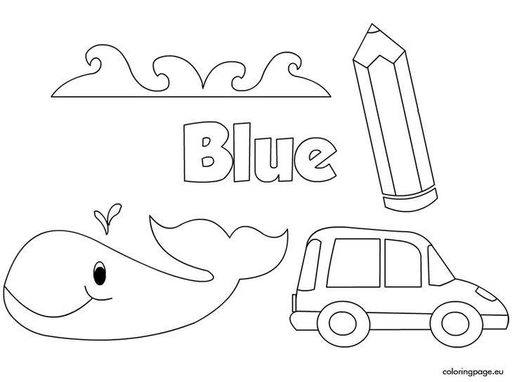 Resultado de imagen para imagenes de color azul para colorear ...