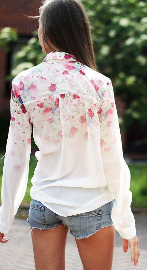 Floral prints   cutoffs.