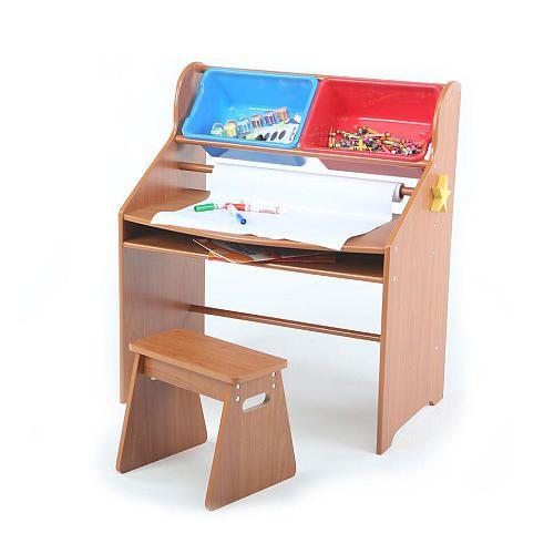 Tot Tutors Primary Focus Activity Desk And Stool Set Tot Tutors