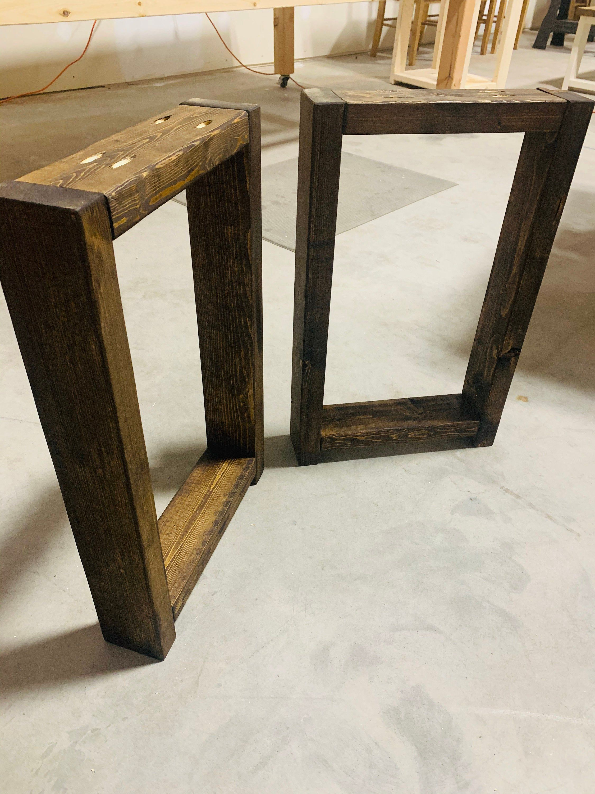 Excited To Share This Item From My Etsy Shop Rustic Tall Farmhouse Square Bench Legs Dark Walnut Diy Bench Legs Ra Wood Table Legs Diy Table Legs Diy Bench [ 3000 x 2250 Pixel ]