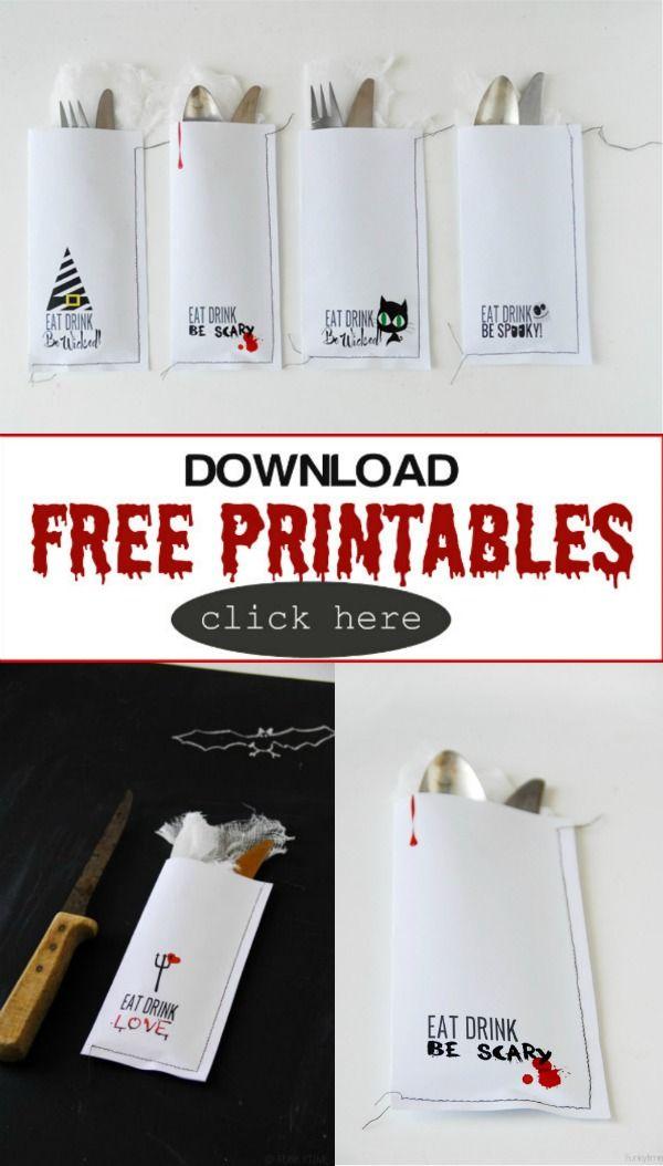 Creative Ideas for Halloween Halloween ideas, Free printables and - free halloween decorations printable
