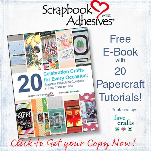 We've collected 20 exclusive all occasion papercraft tutorials in one free E-Book. For beginners and beyond, make each card, tag or scrapbook page in under an hour. Download yours now! #sbadhesivesby3l #ebook #alloccasion #free #papercraft #tutorial