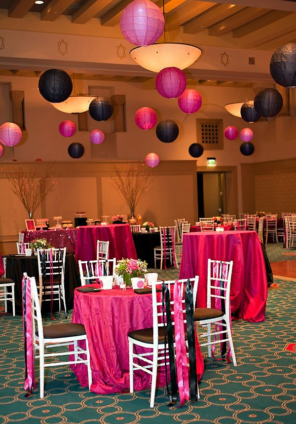 Pink and black party theme