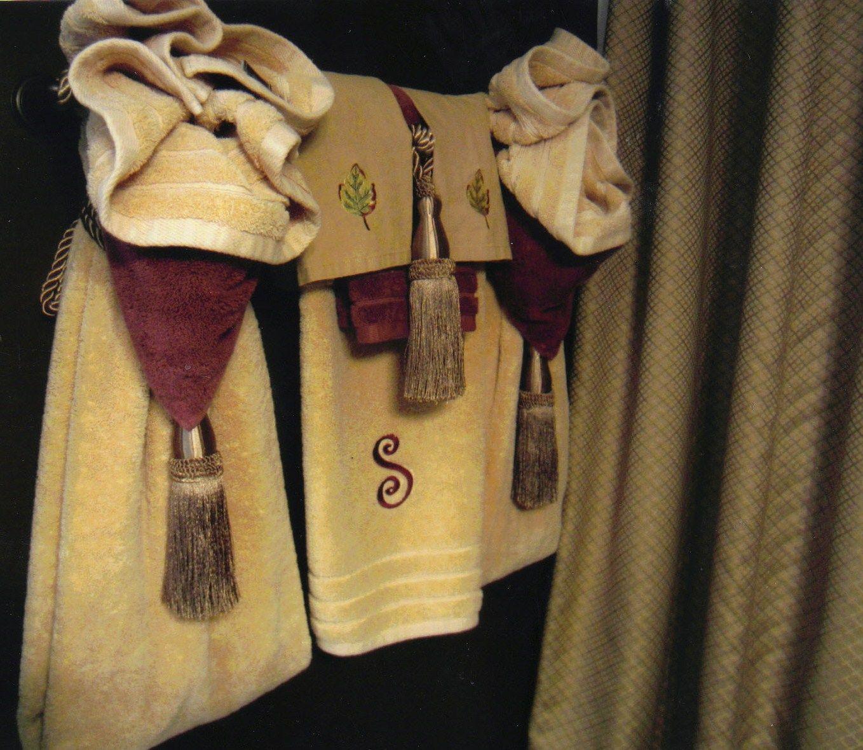 Bathroom towels craft ideas pinterest for Bathroom decor towels