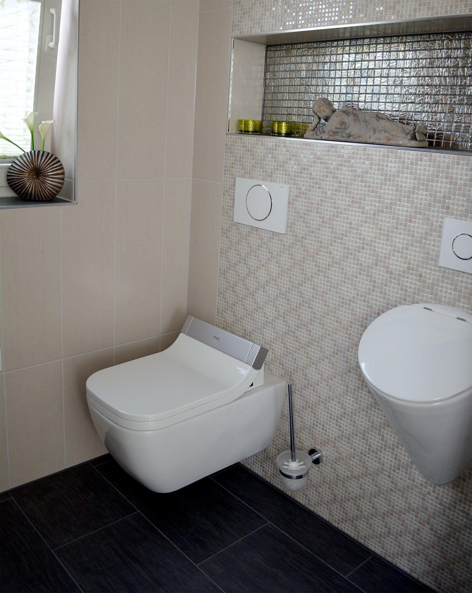 Praktisch das gäste wc verfügt nicht nur über eine toilette sondern auch über