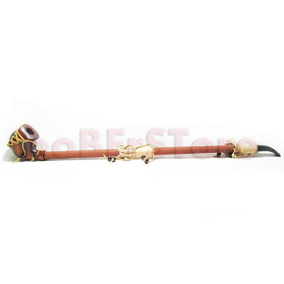 Exclusive Style Wooden pipe Extremly Long 25''  Tobacco Pipe Smoking Pipe Engraved FANTASY STYLE. HANDCARVED , Limited Edition on Etsy, 45,55$