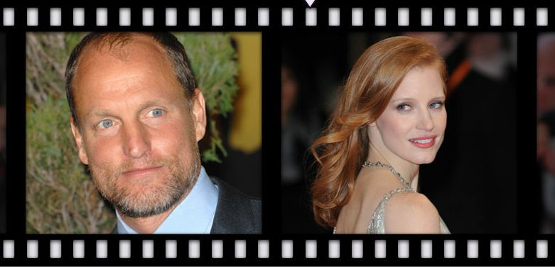 Congrats to Woody Harrelson and Jessica Chastain for being named 'The Sexiest Vegetarian Celebrities' of 2012! #celebs #vegetarian #sexy #peta
