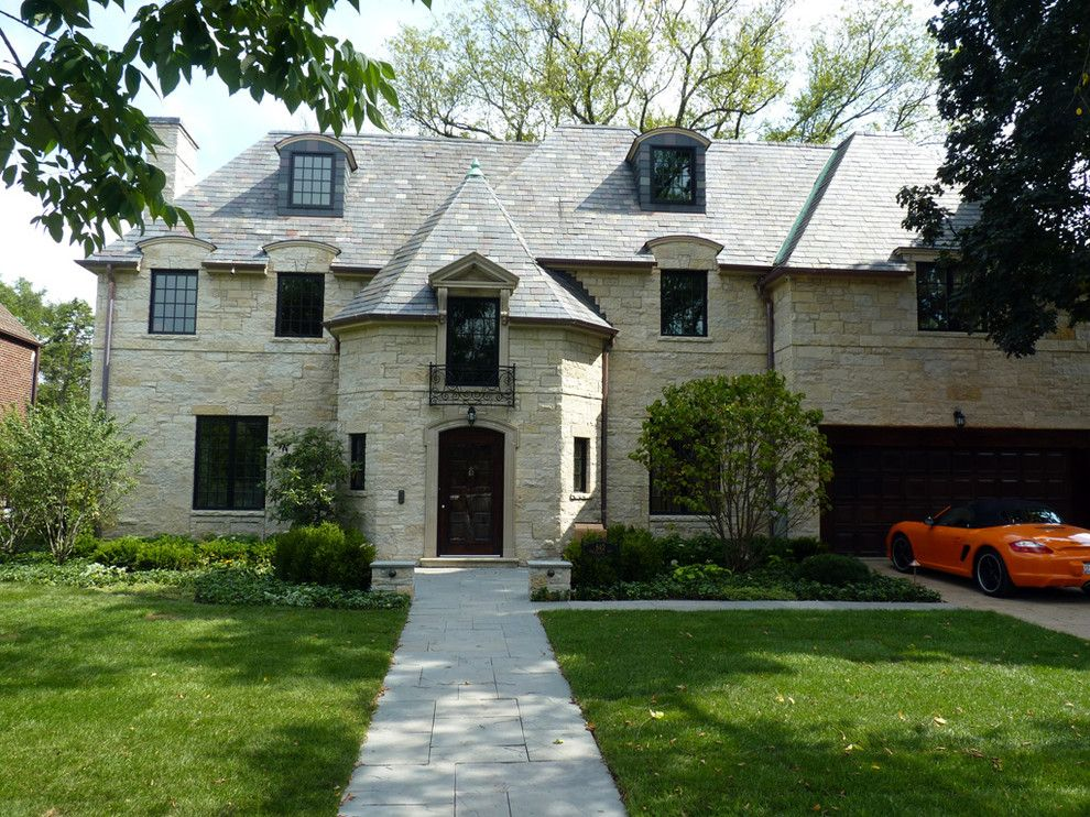 Mansard Roof Traditional Exterior Decoration Ideas Chicago
