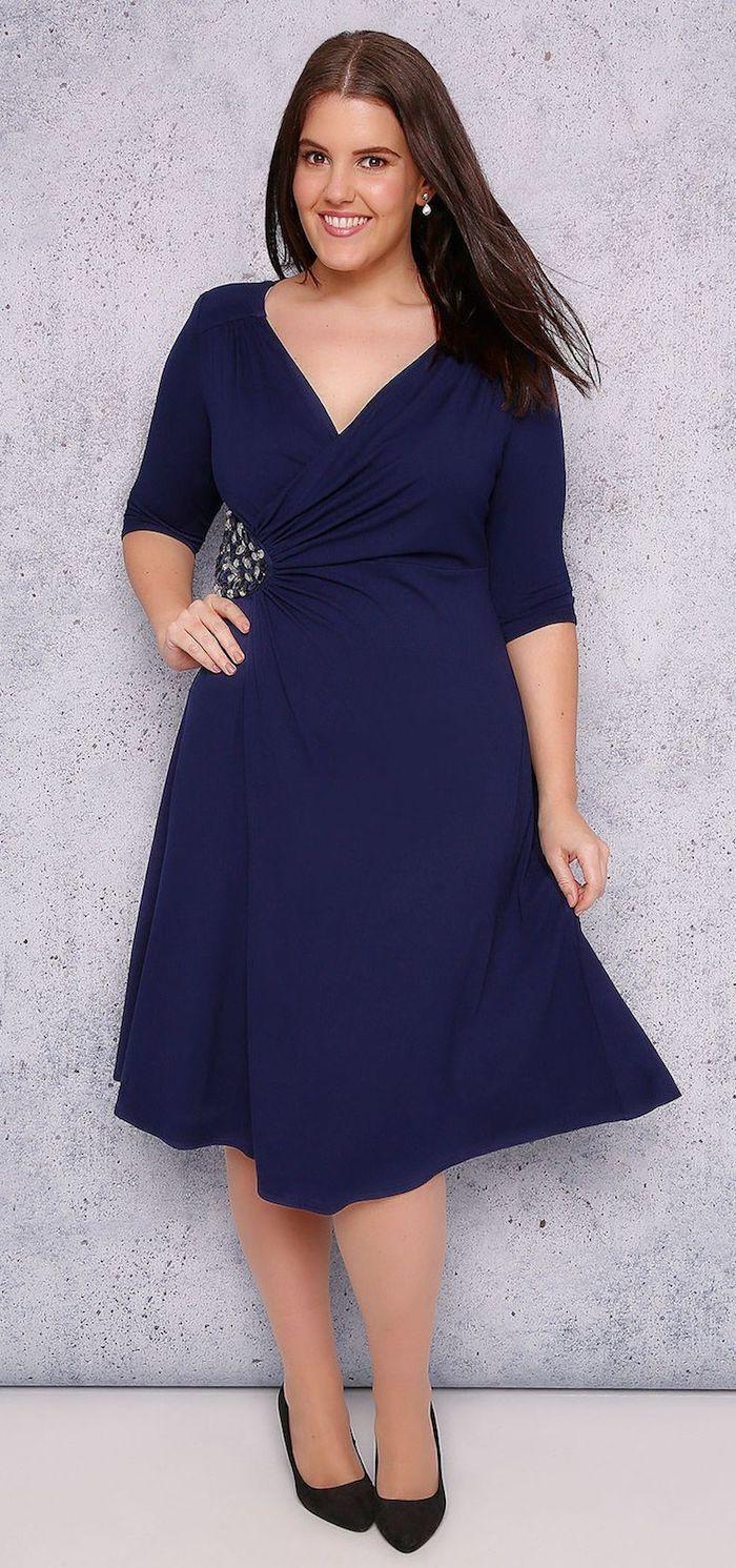 elegante Kleider für ein netten Mädchen, blaues Kleid mit ...