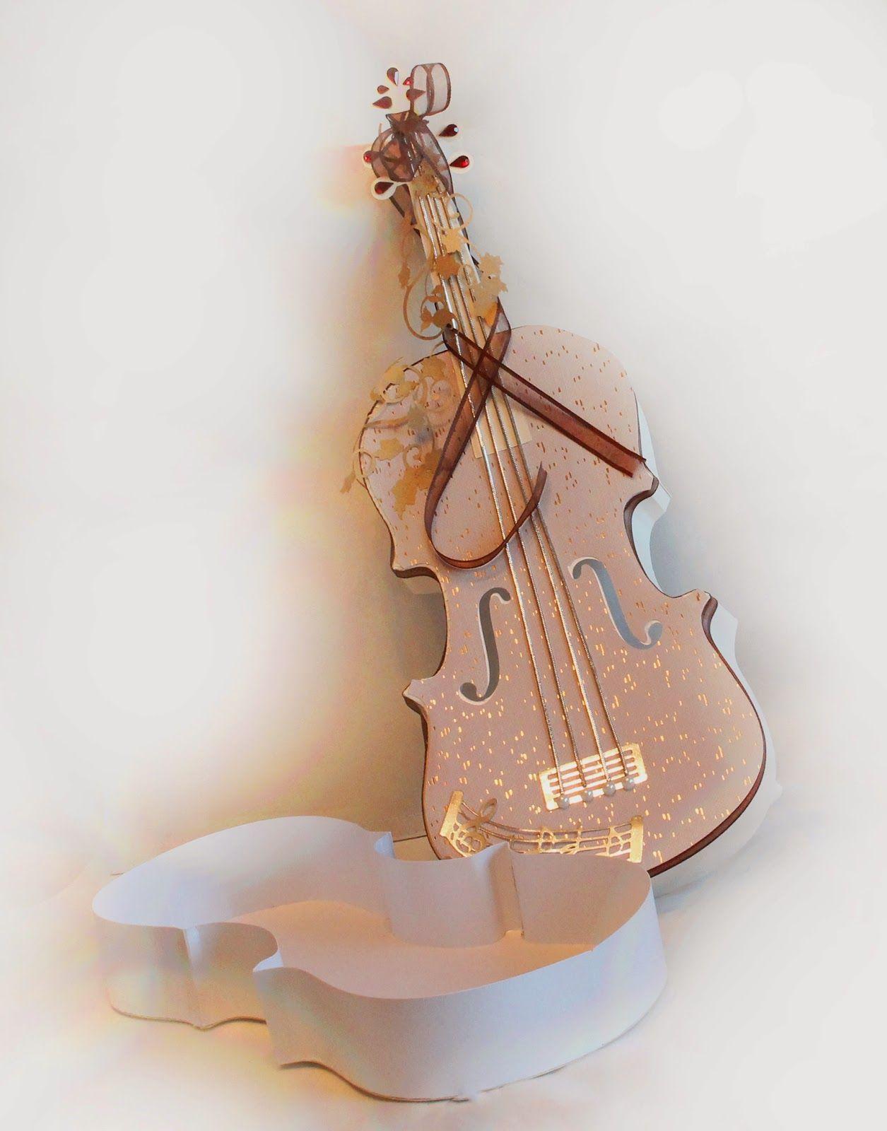 3d Violin Box Crafts Box Violin Diy Box