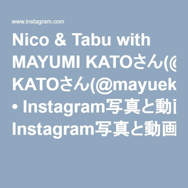 Nico & Tabu with MAYUMI KATOさん(@mayuekkip) • Instagram写真と動画