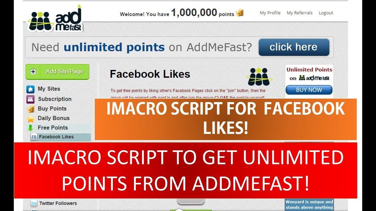Addmefast Facebook Like Imacros Script 100 Working Addmefast Free P Facebook Likes Script Youtube Subscribers