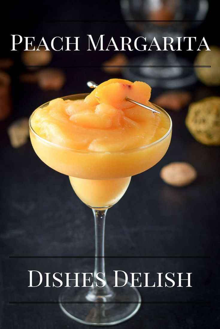 Peach Margarita #frozenmargaritarecipes
