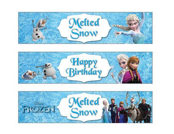 Frozen Water Bottle Label(Non personalized) Disney Frozen ...