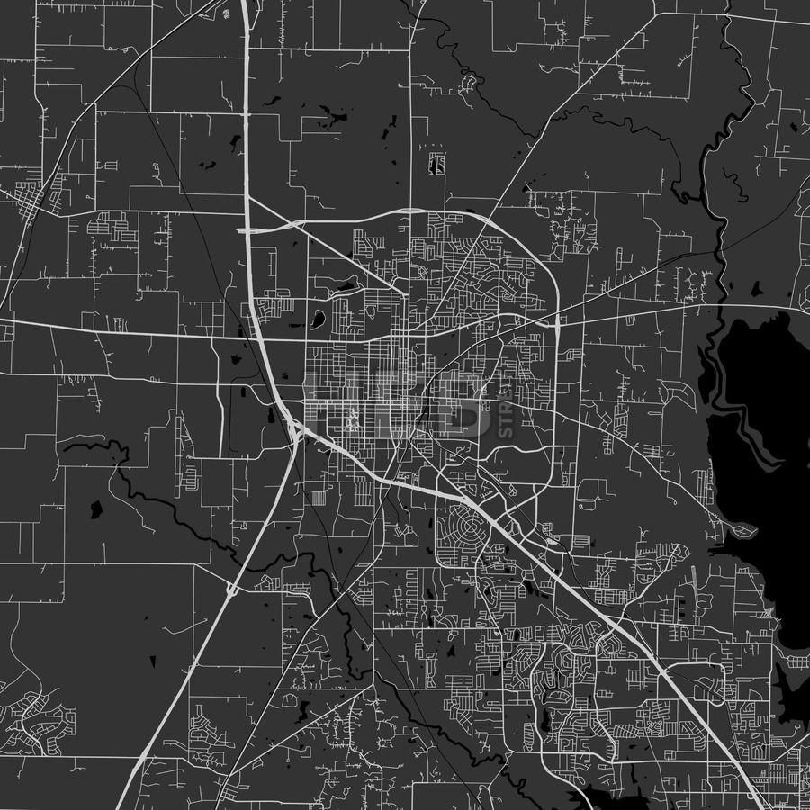 Denton Texas Area Map Dark Ui ux