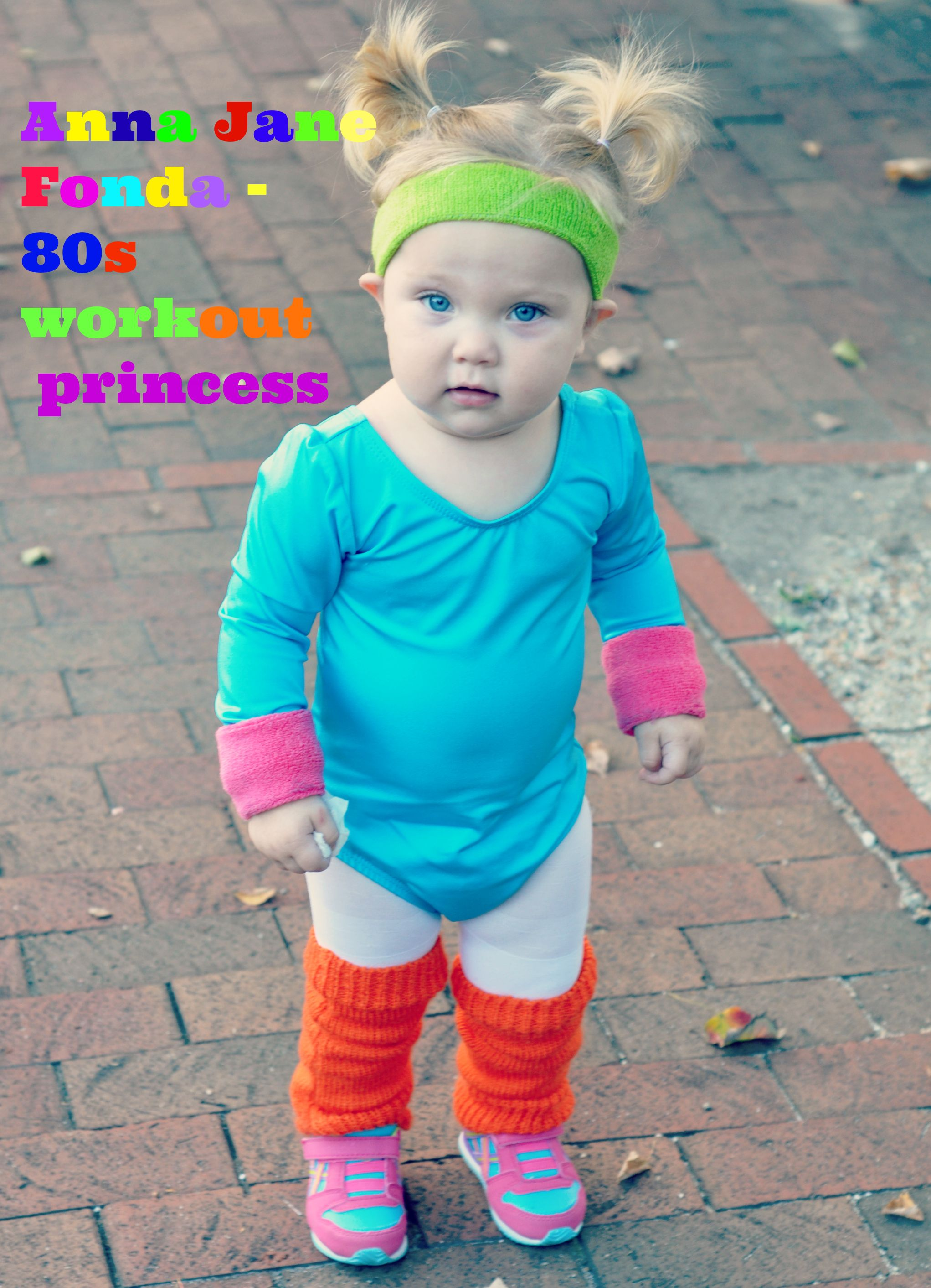 Cute Jane Fonda 80's Workout Costume for a Toddler | 80s workout ...