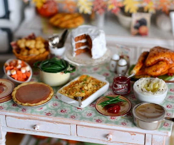 RESERVED-Miniature Thanksgiving Prep Table~Shabby Vintage
