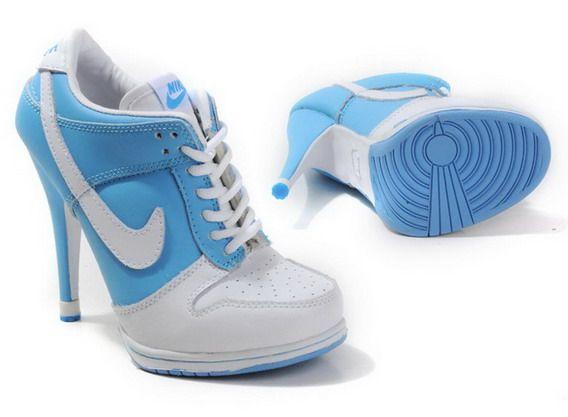 wholesale dealer 6357f 09a3f Nike Dunk SB Low Heels   Blue And White Nike Dunk Low Heels Jordan High  Heels For Sale,Air Jordan Heels,Nike High Heels