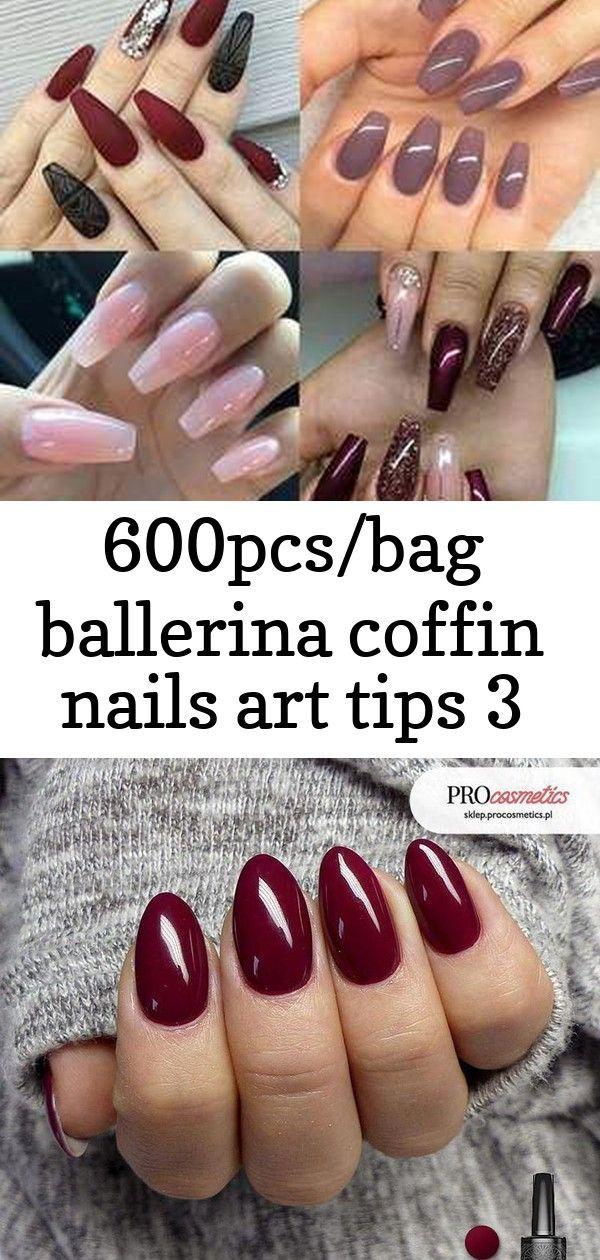 600pcs/Bag Ballerina Coffin Nails Art Tips Vettsy nail shapes long Oval #acrylicnailshapes Easy Summer Nail Shapes DIY 30 Wow Wedding Nail Ideas nail …