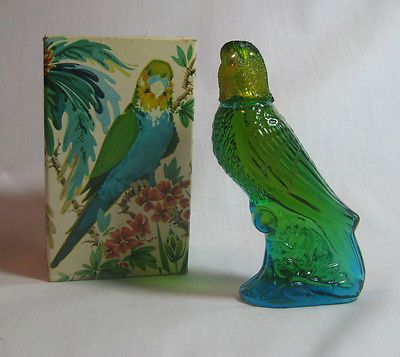 Vintage Avon Bottle Island Parakeet Bird Decanter Charisma Cologne