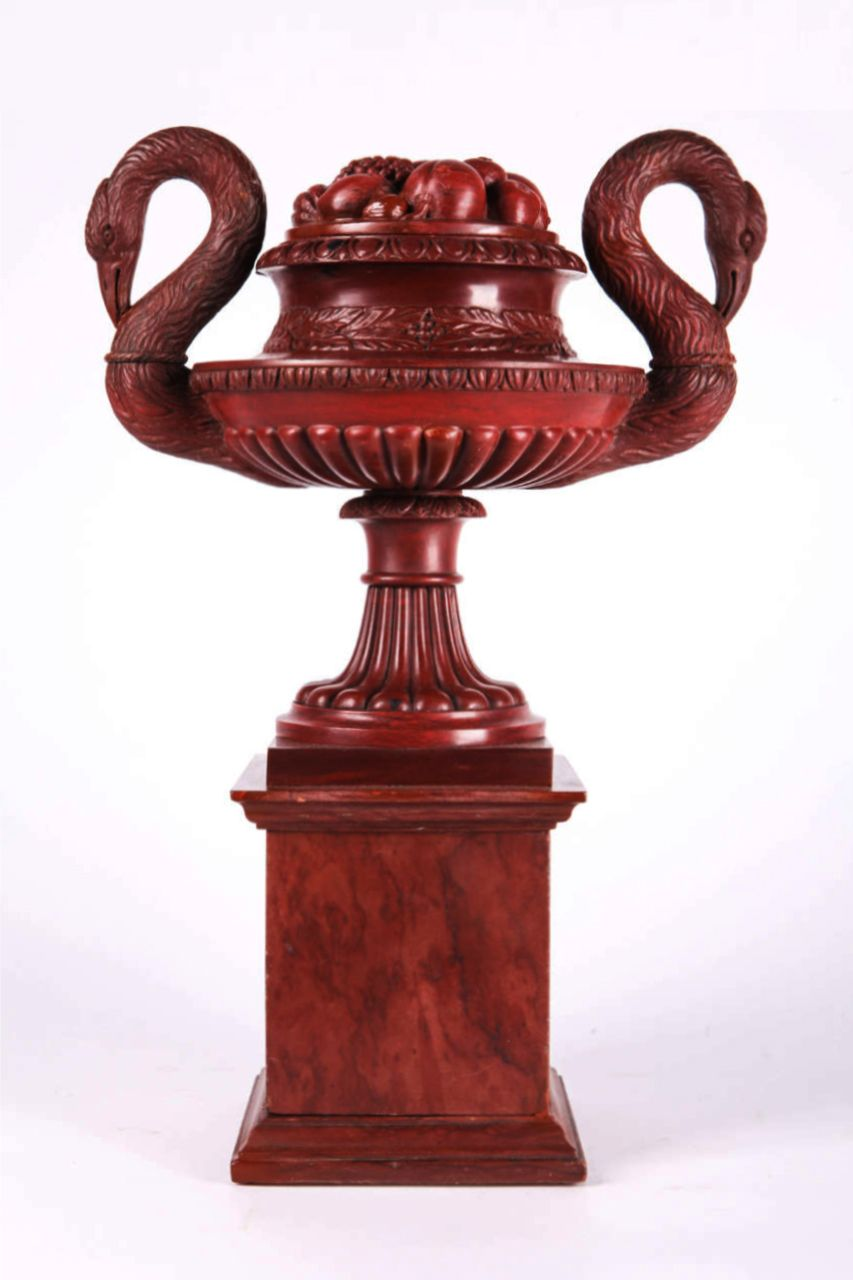 Antique Red Marble Tazza Italy Circa 1820 Attributed To Benedetto Boschetti Sculptor Roman Work Dim H 15 75 I Antique Vase Vases And Vessels Antiques
