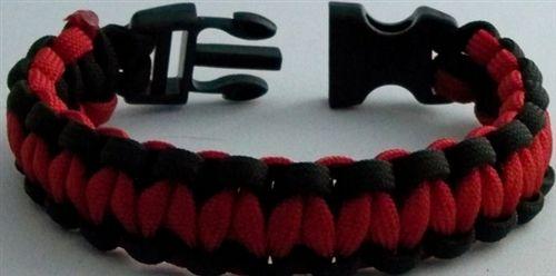 Emergency Stuff - Survival Straps Red Line Paracord Bracelet, $18.95 (https://www.emergencystuff.com/survival-straps-red-line-paracord-bracelet/)