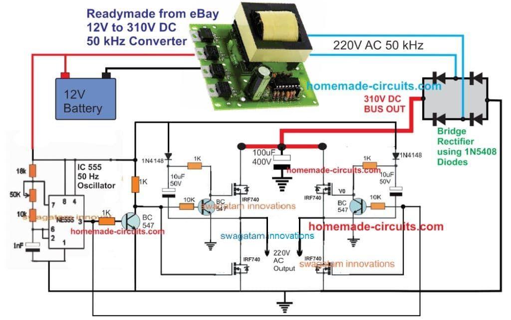 5kva Ferrite Core Inverter Circuit Full Working Diagram With Calculation Details Hom Circuit Projects Electronic Circuit Projects Electronic Circuit Design