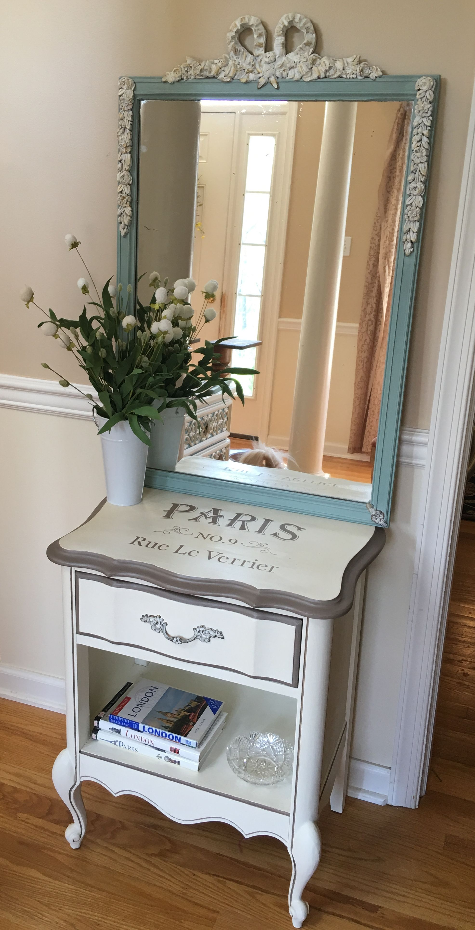 French Provincial night stand painted with chalk paint and ...