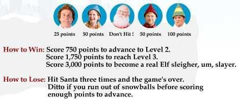 Buddy's Snowball Fight. Throw snowballs at characters from
